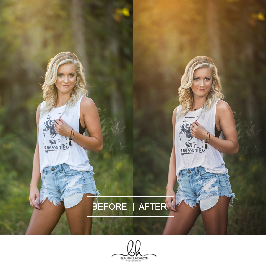 Photo Editing Before and After. ©Beautiful Horizon Photography. Tuscaloosa Portrait Photographer.