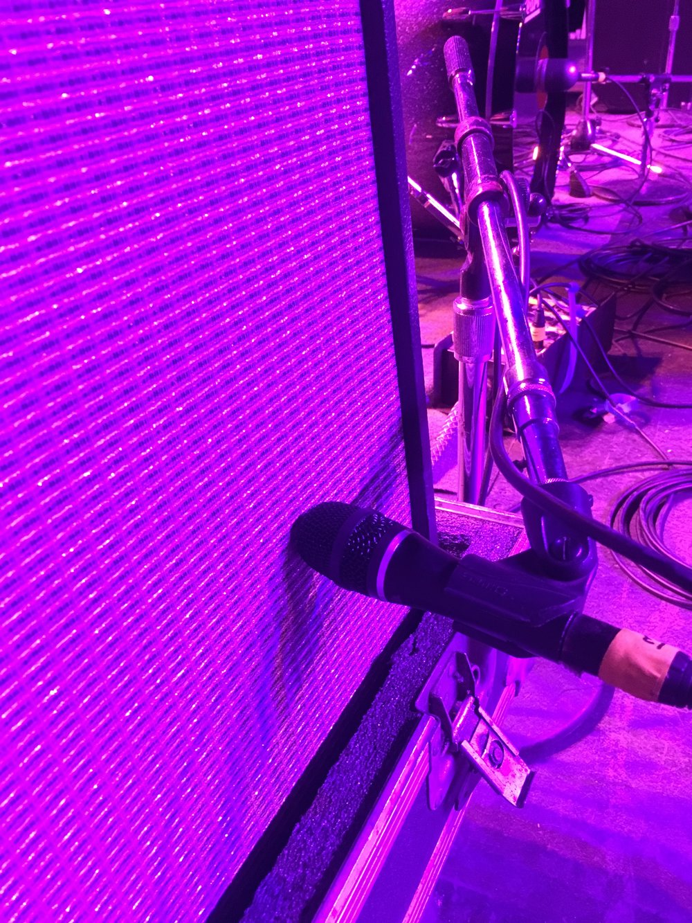 Heil HM-Pro mic on a Fender Deluxe at the New Jersey Crawfish Festival.