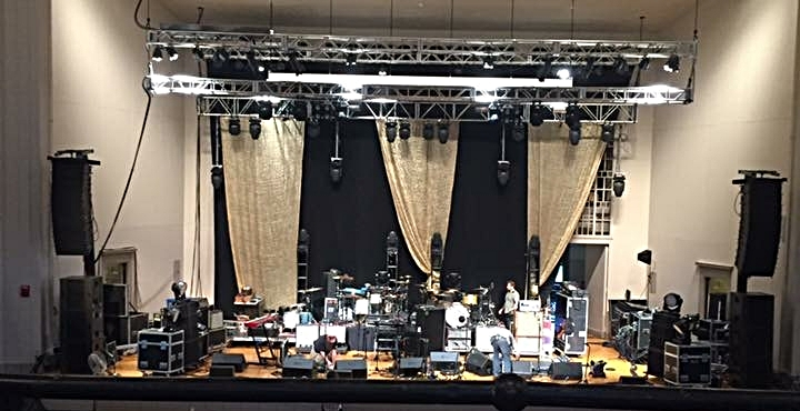 Load-in for Modest Mouse at John M. Greene Hall, Smith College.