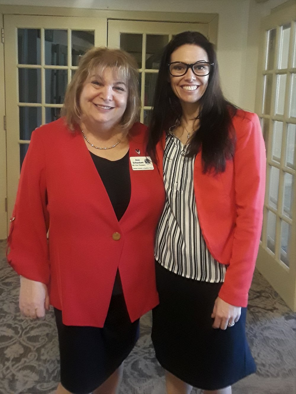 Honored to have met ANN SCHOCKETT from  New York, the  4th Vice President of the National Federation of Republican Women  after her speech at the IFRW Red Jacket luncheon in March.