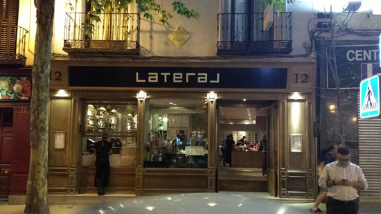 Lateral  This was one of my all-time-favourite places to go in Madrid as I lived just round the corner from Plaza Santa Ana.  I like this as it always has a great atmosphere and offers fun tapas that is tasty with some killa croquetas de jamon.  Plaza Santa Ana, 12, 28012 Madrid, Spain +34 914 20 15 82   http://www.lateral.com/restaurantes/santa-ana/