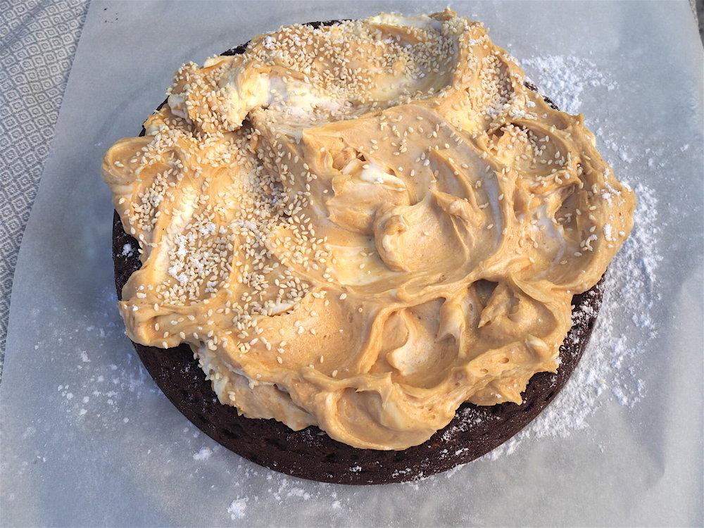 tahini, cashew chocolate cake.JPG