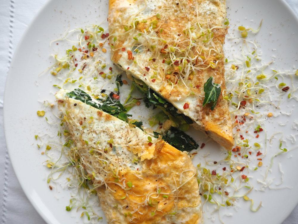 Omelette with Greens, Gouda & Feta.JPG