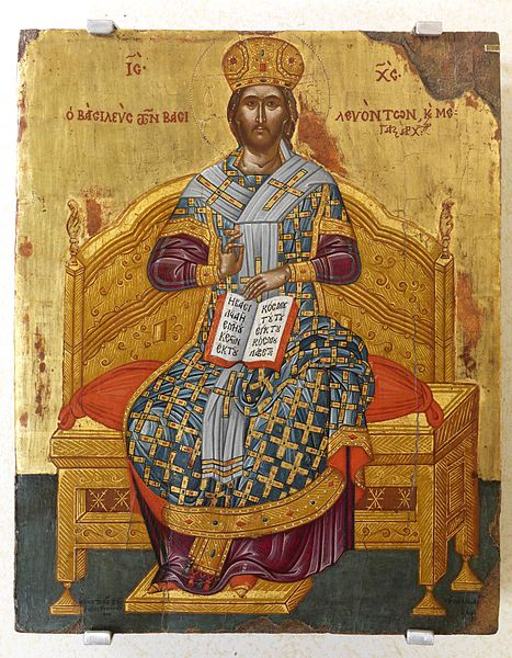 Christ enthroned as High Priest.