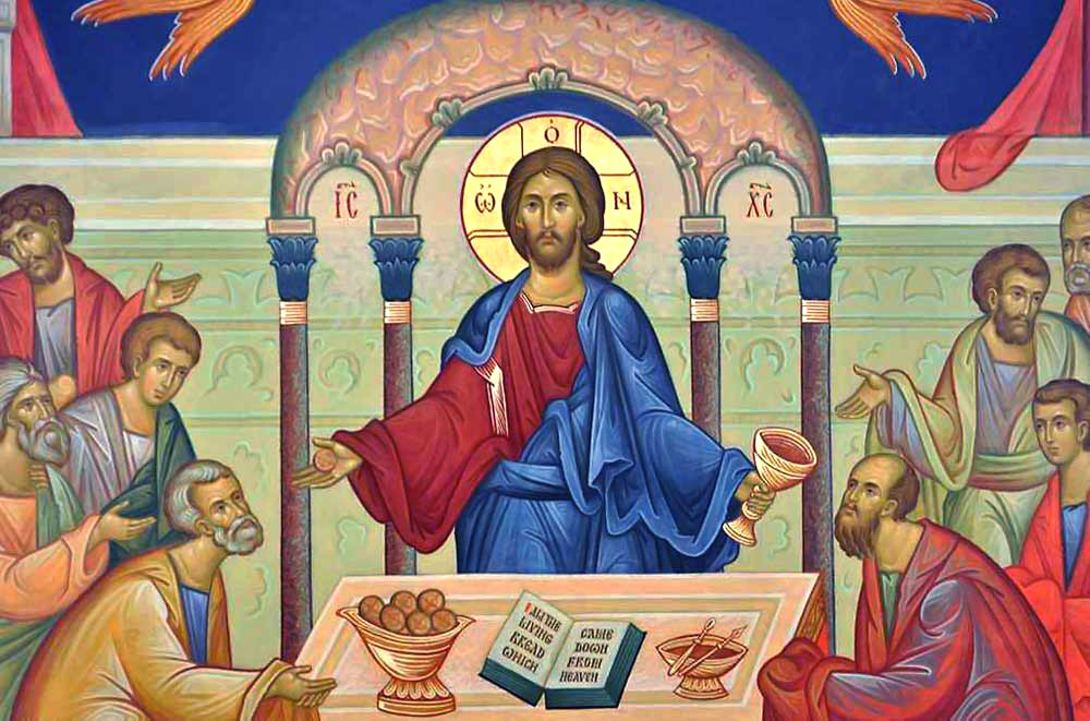 """Take eat this is my body which is broken for you for the forgiveness of sins..."" -  The Divine Liturgy of St. John Chrysostom"
