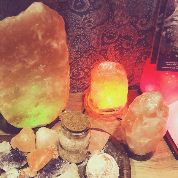 himalayan salt lamps for sale at the Bethesda Salt Cave