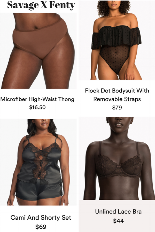 A small selection of Rihanna's 90 piece lingerie line. | All Images via  SavageX.com