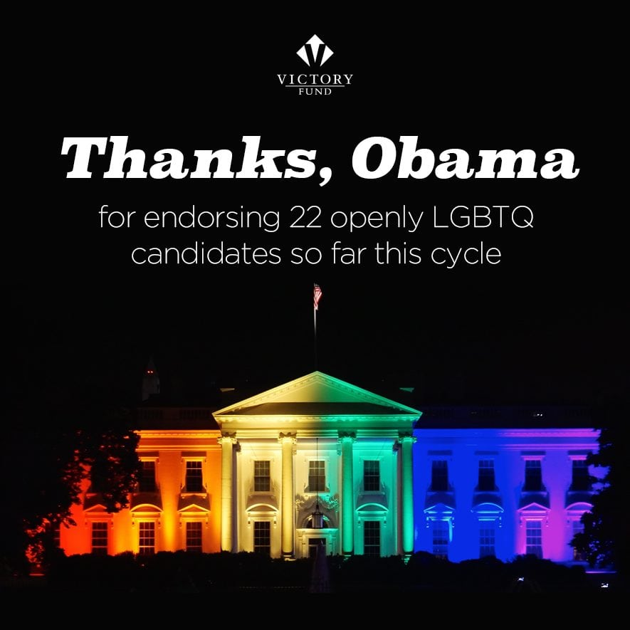 President Obama Endorses 17 LGBTQ Victory Fund-Endorsed Candidates in Latest Announcement -