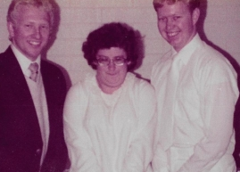 Elder Golding, Mandy Kay, and Elder Packer  on the day Mandy was baptized - July 20, 1982