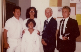 March 1, 1981 - Baptism of Ross Potaka - Ra, Maro, Ross, myself, and Elder Johnson - resized.jpg