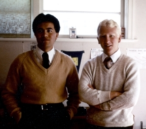1981 - Elder Wihongi and myself in our bedroom - Wainuiomata flat cropped.jpg