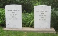 Joseph Smith, Sr. and Lucy Mack Smith gravestone.jpg