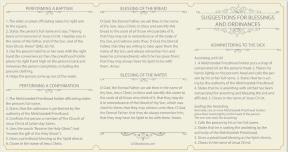 Tri-Fold Priesthood Ordinance Card