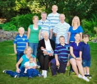 Mom and the grandchildren in 2009
