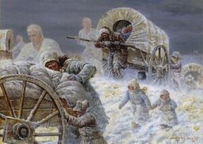 Handcart winter angels by Clark Kelley Price.jpg