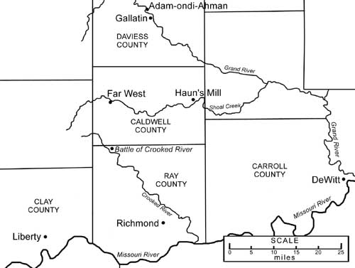 Far West Missouri Map.Chapter Forty The Saints Are Brutally Attacked In Missouri Latter