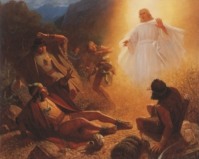 Alma and the  Angel with the four sons of Mosiah.jpg