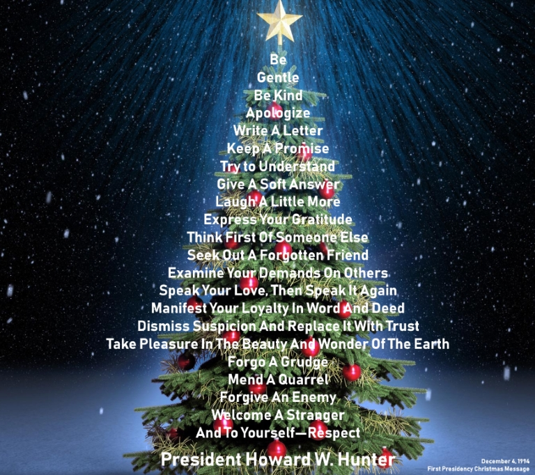 First Presidency Extols Meaning of Christmas   Click Here!