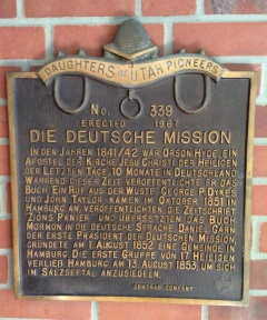 Daniel Garn German Mission President plaque.jpg
