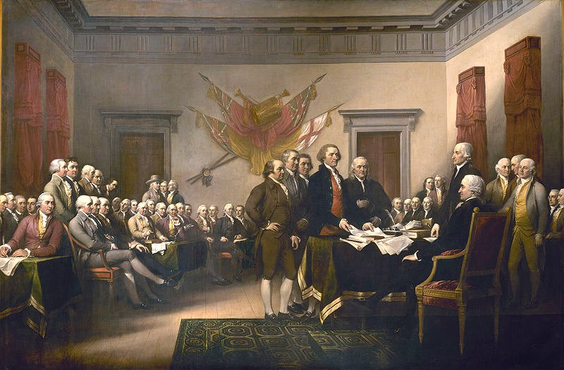 Signing The Declaration Of Independence Painting  by John Trumbull