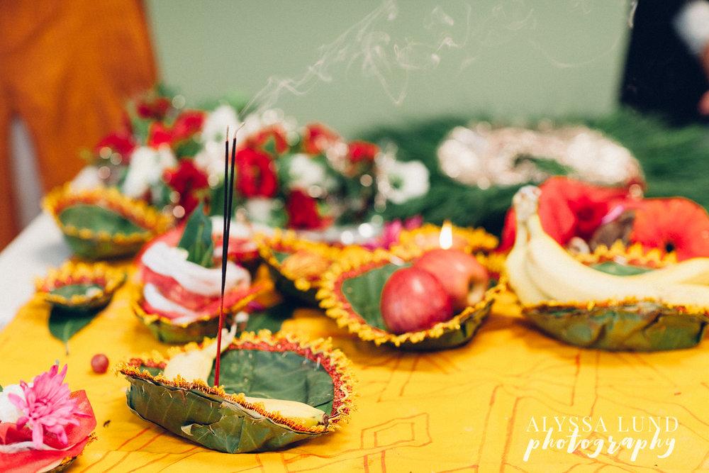 Minneapolis Hindu Wedding table incense