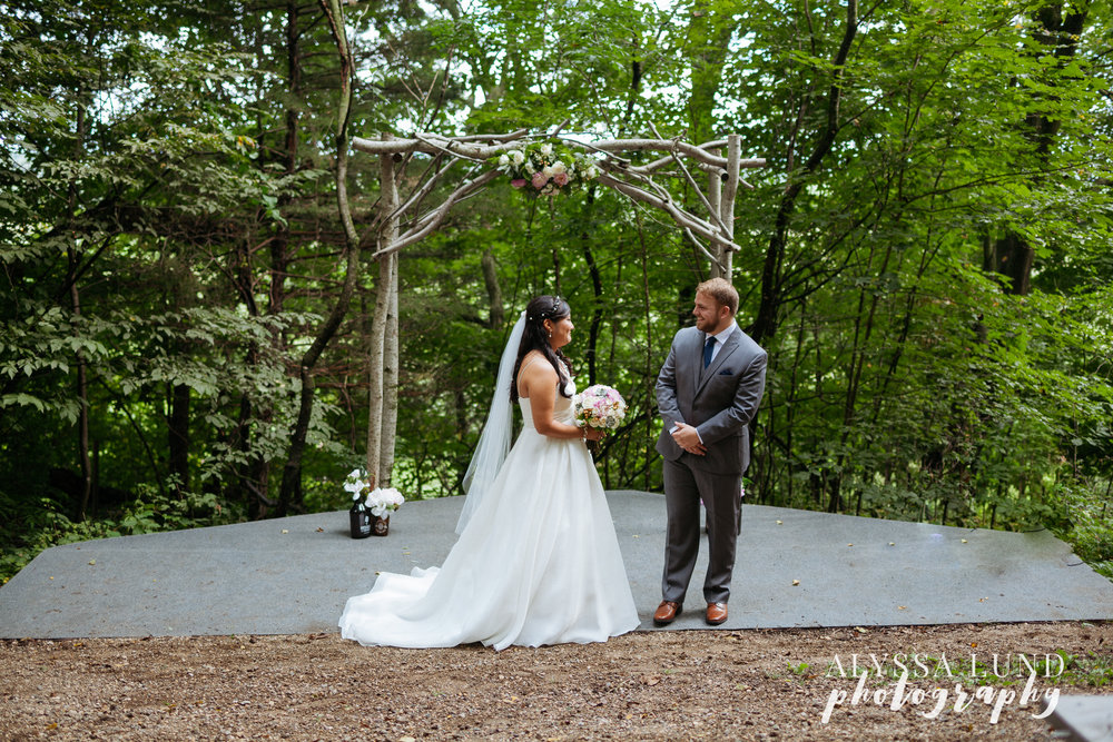Wedding First Look at Edgewood Farm