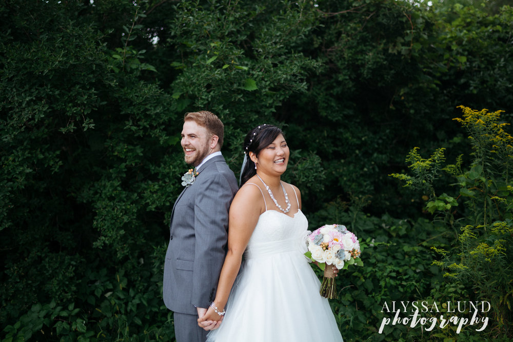 Laughing Wedding Portraits at Edgewood Far