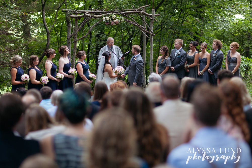 Outdoor Minnesota Wedding Ceremony at Edgewood Farm