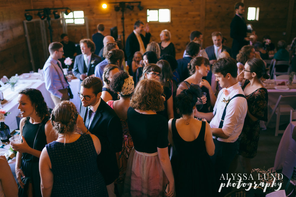 Cocktail Hour at Edgewood Farm Wedding