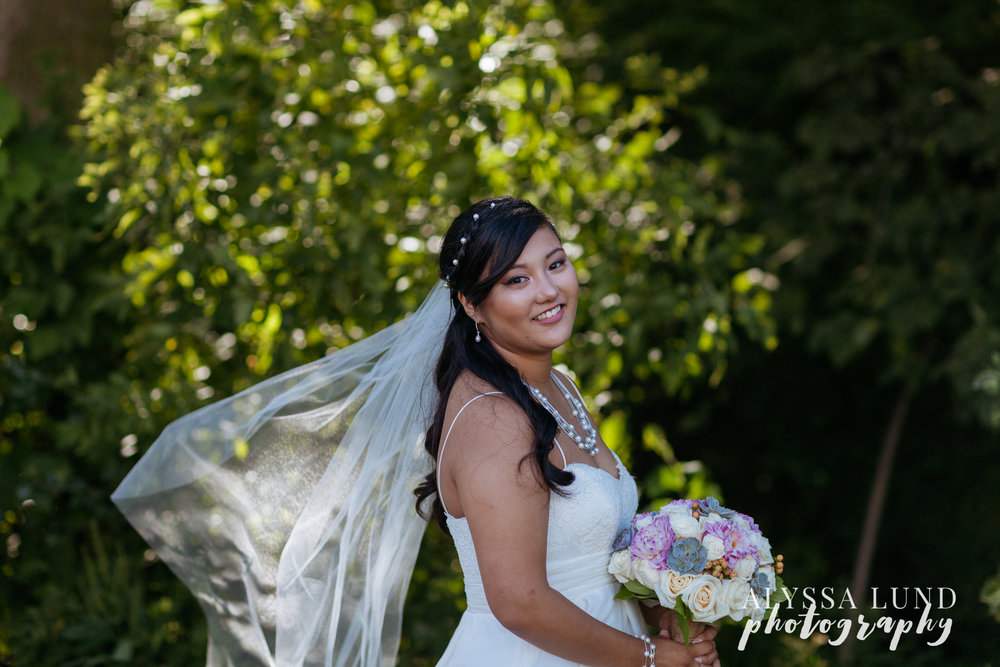 Bride Portrait at Edgewood Farm