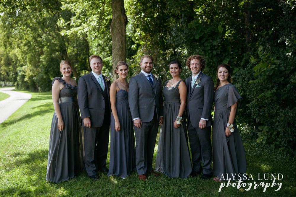 Edgewood Farm wedding party portrait