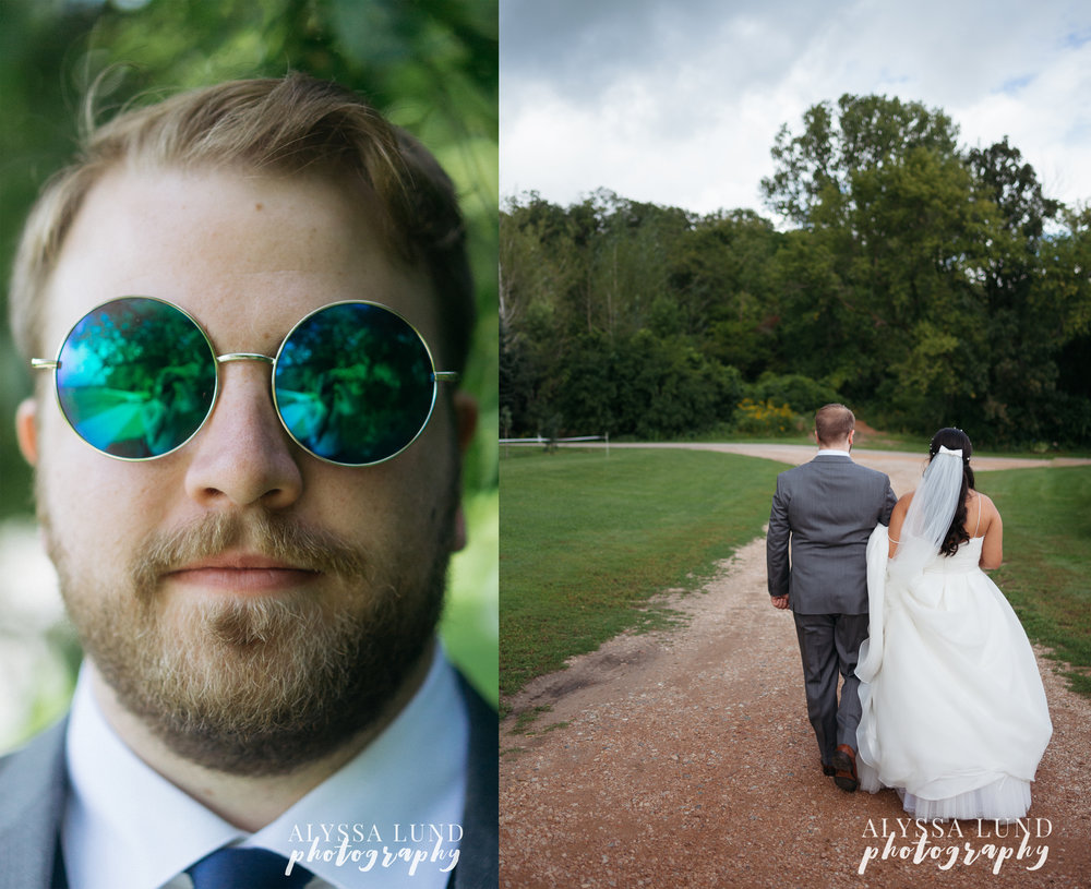 Wedding Portraits at Edgewood Farm walking