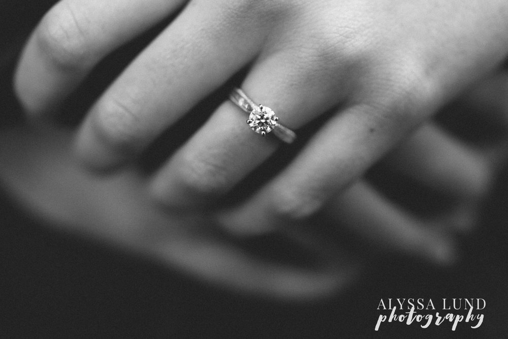St. Paul Fall Engagement Session ring detail