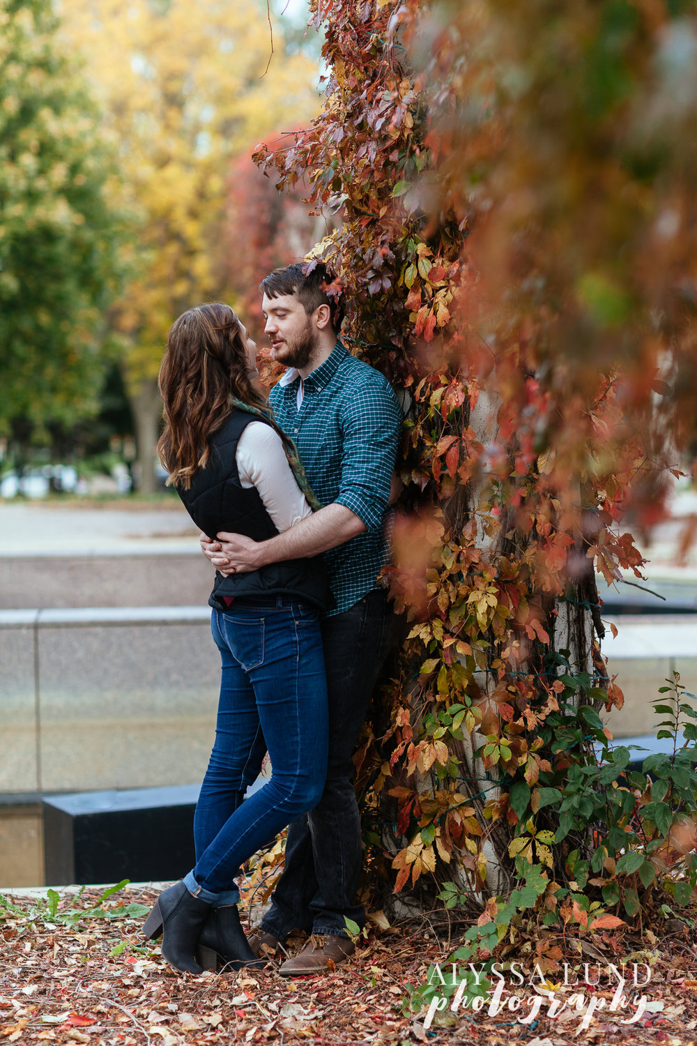 St. Paul Fall Engagement Session romantic