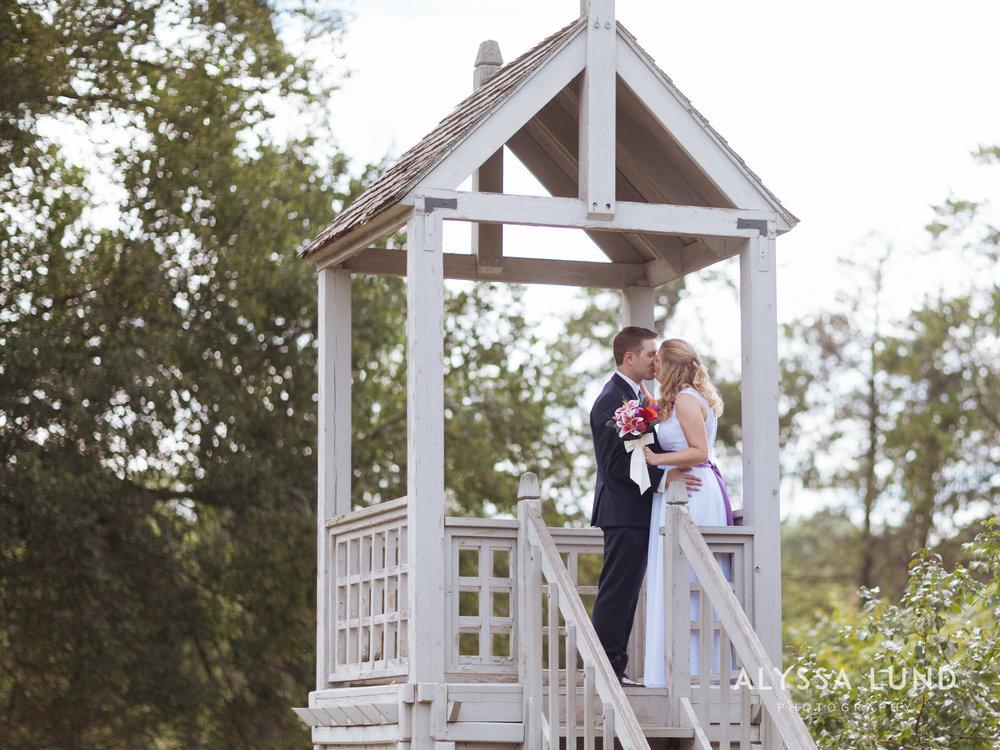 Romantic Wedding Portrait at the Minnesota Landscape Arboretum