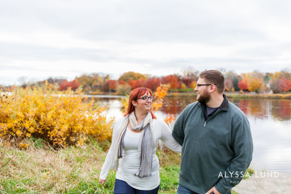 outdoor engagement portraits in Minneapolis