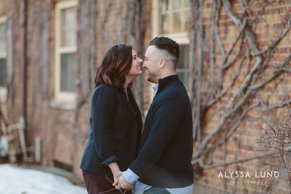 Laughing Engagement Portraits in St. Paul