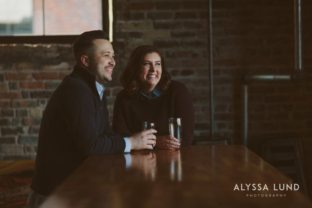 Engagement Portraits in a St. Paul Brewery