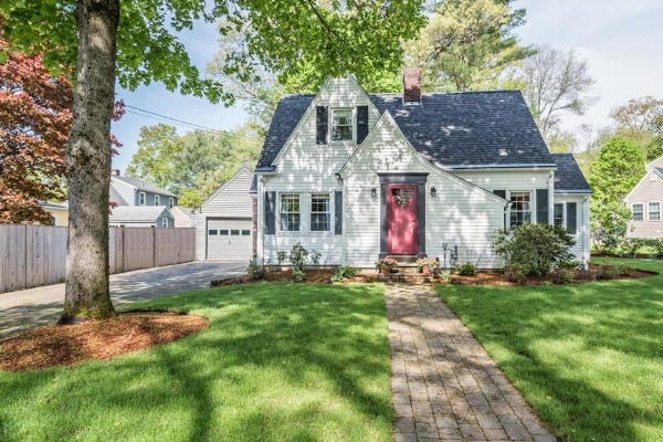 Charming 3 br/2 bath tudor-style with awesome patio.