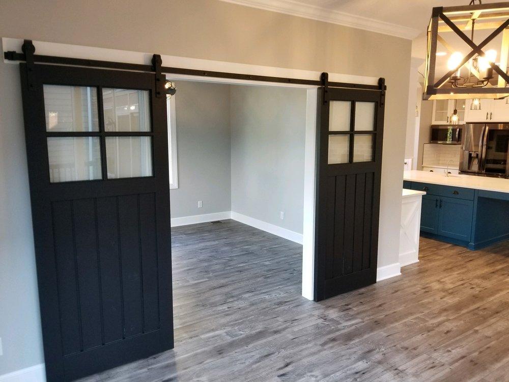 Barn doors into the Prayer Room