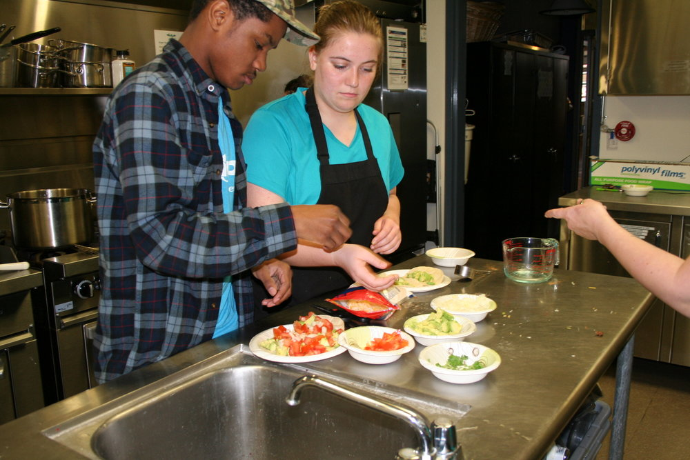 CULINARY - Chop's state-of-the-art commercial teaching kitchen accommodates beginning and intermediate culinary students.  Teens can also join Chop's Catering Crew and get real experience working as part of a catering team. Members also have the chance for culinary career exploration and guidance.