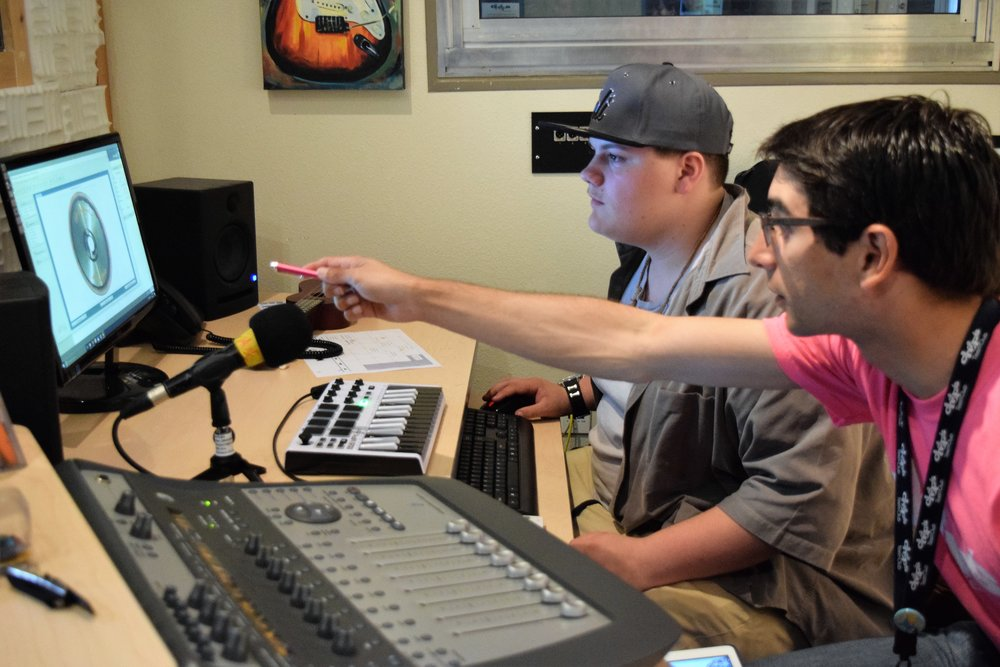 MUSIC & RECORDING - Staff mentors create an environment in the music room where all members are welcome to participate regardless of musical ability.  Teens can receive instruction on a variety of instruments, record and mix their own demo or even join Chop's Jam Band and perform at local events.