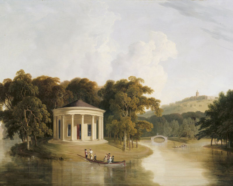 Thomas Daniell, Music Temple at West Wycombe, ca. 1781