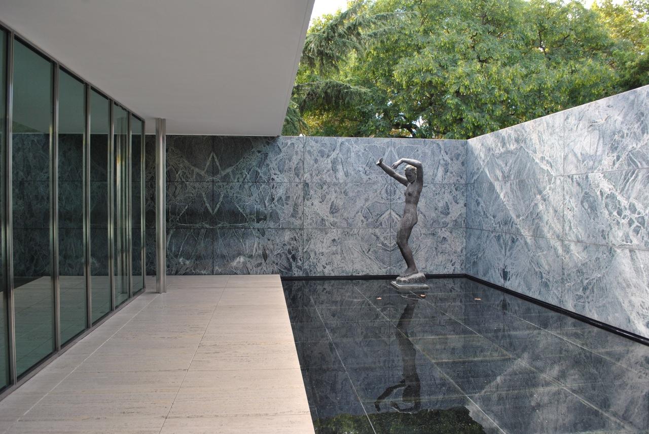Ludwig Mies van der Rohe. Barcelona Pavilion.  1928-29; demolished 1930; rebuilt 1986. Barcelona, Spain.