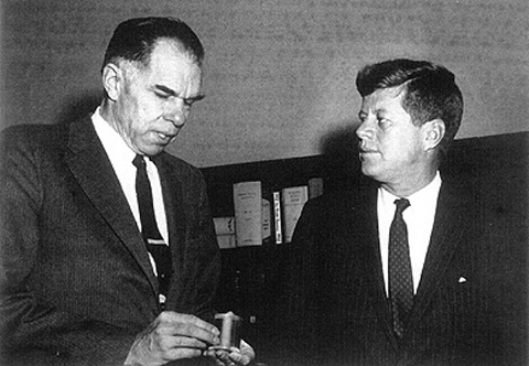 Glenn Seaborg and John F. Kennedy