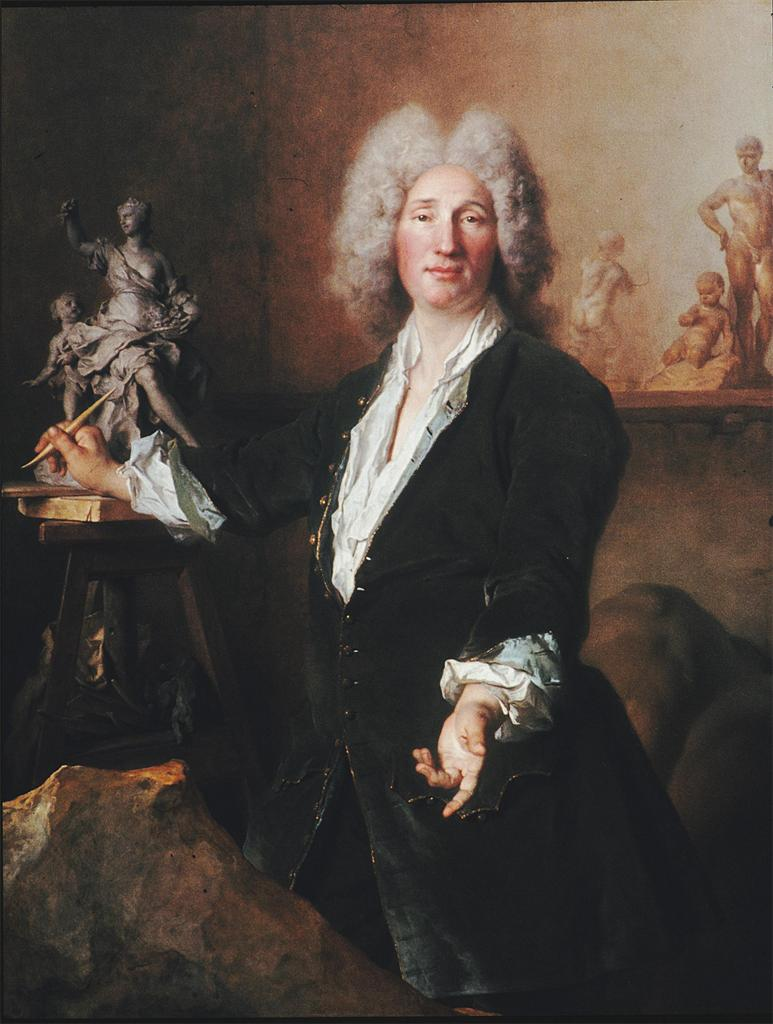 Nicolas de Largillierre. Sculptor Nicolas Couston in His Studio. c.1710-12. oil on canvas. 135 x 109. Staatliche Museen zu Berlin--Preussischer Kulturbesitz