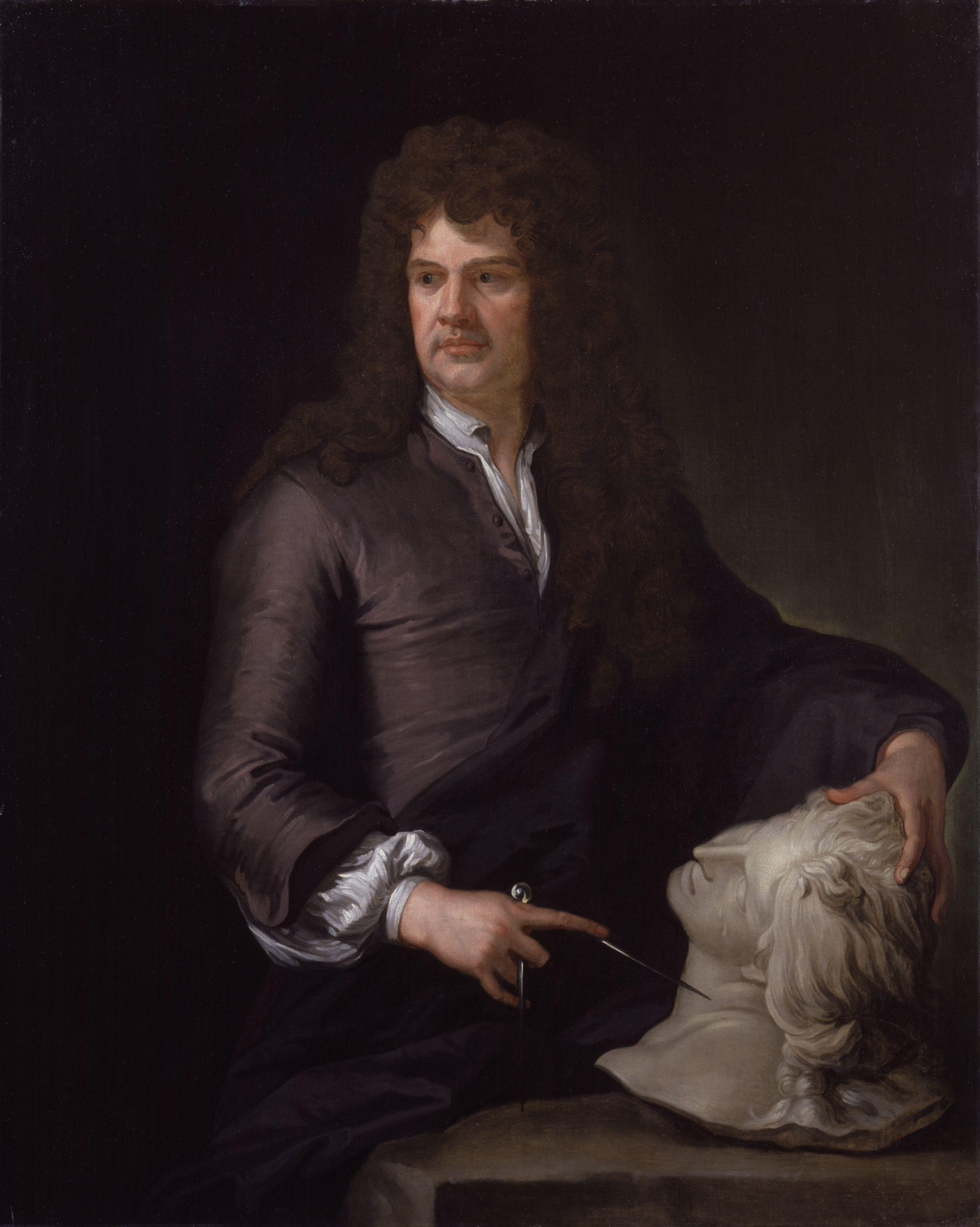 Godfrey Kneller. Grinling Gibbons. ca. 1690.  Oil on Canvas. National Portrait Gallery, London. 2925