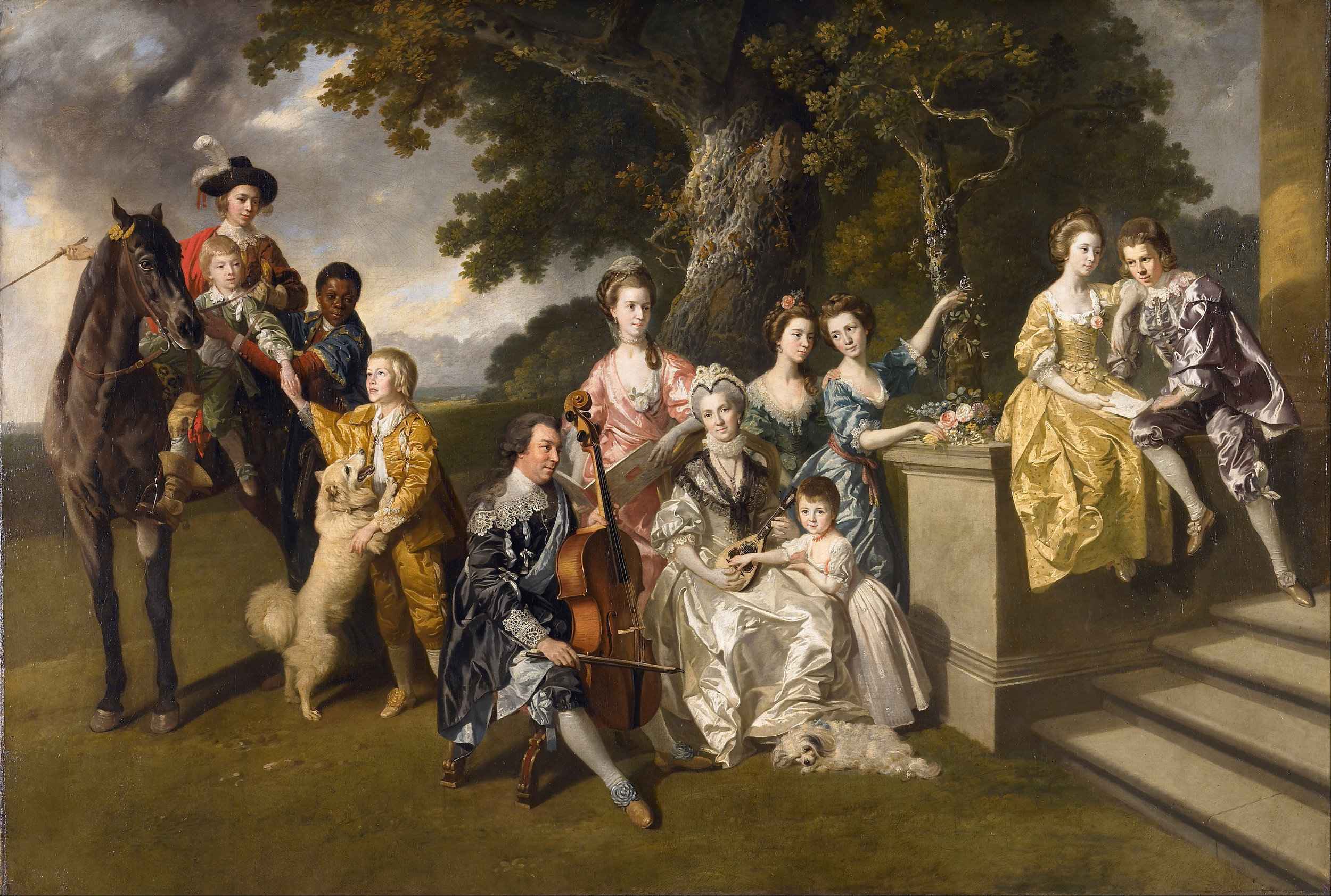 Johan Zoffany. The Family of Sir William Young. ca. 1766-70. oil on canvas. 114.3 x 167.8cm. Walker Art Gallery. WAG2395