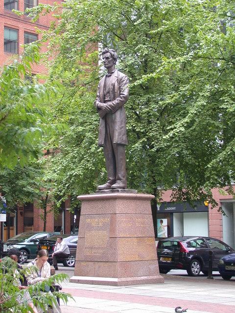 George Grey Barnard. Abraham Lincoln. bronze. 1919. Lincoln Square, Manchester, UK