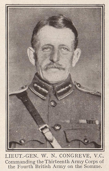 Official British Military photograph. Lieutenant General W.N. Congreve circa 1915. First published H.W. Wilson, The Great War (1917).